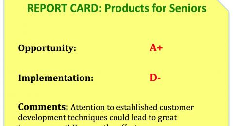 Products for Seniors: report card
