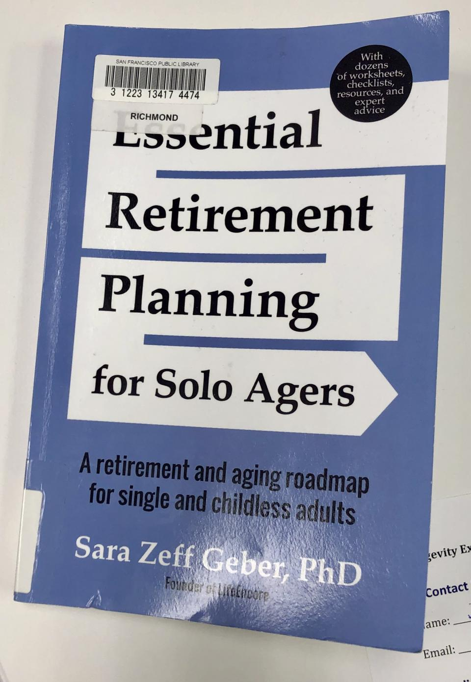 Retirement Planning for Solo Agers: Book Recommendation