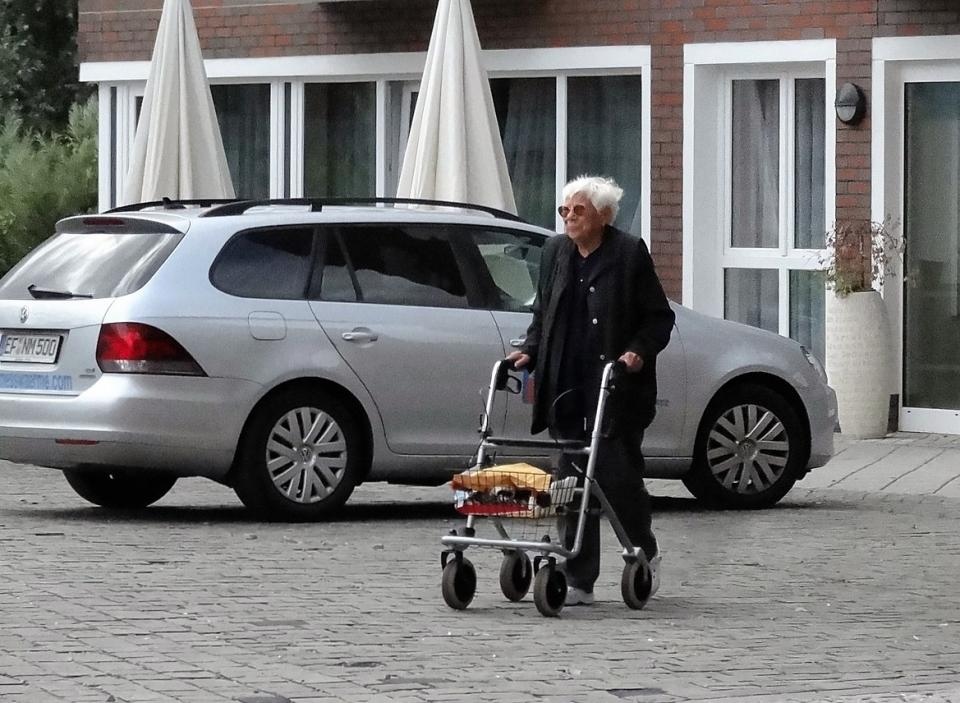 Rollator, mobility aid
