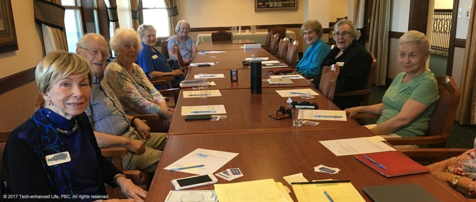 Amazon Echo (Alexa) for seniors and the elderly, brainstorming session by older adults