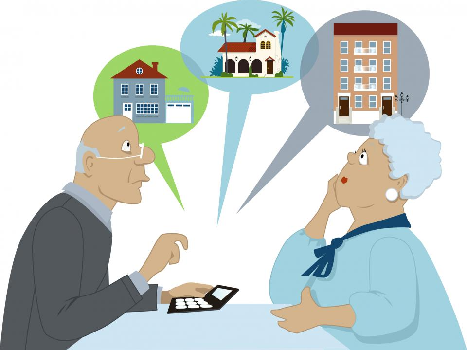Choosing different retirement living options