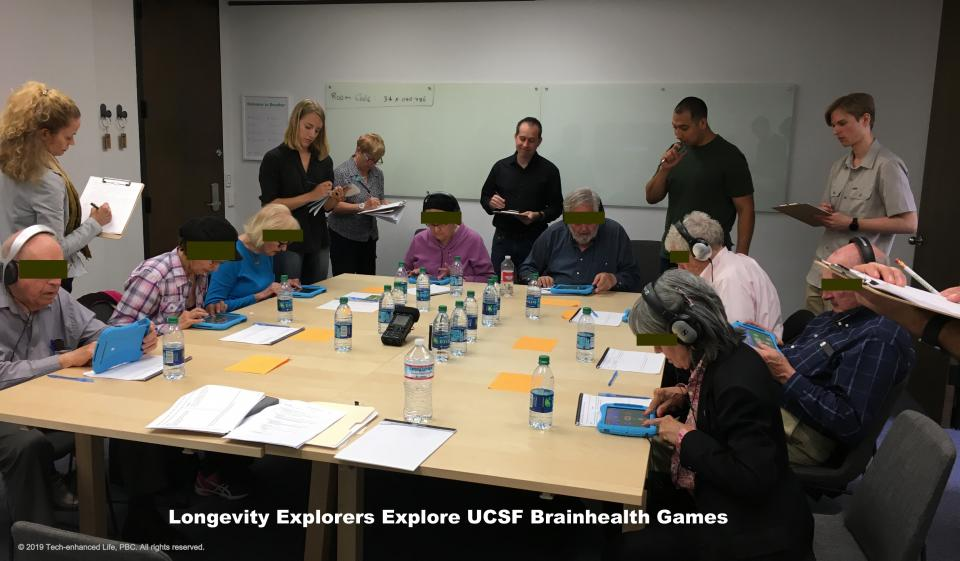 Longevity Explorers provide feedback on prototypes of UCSF Brainhealth Games