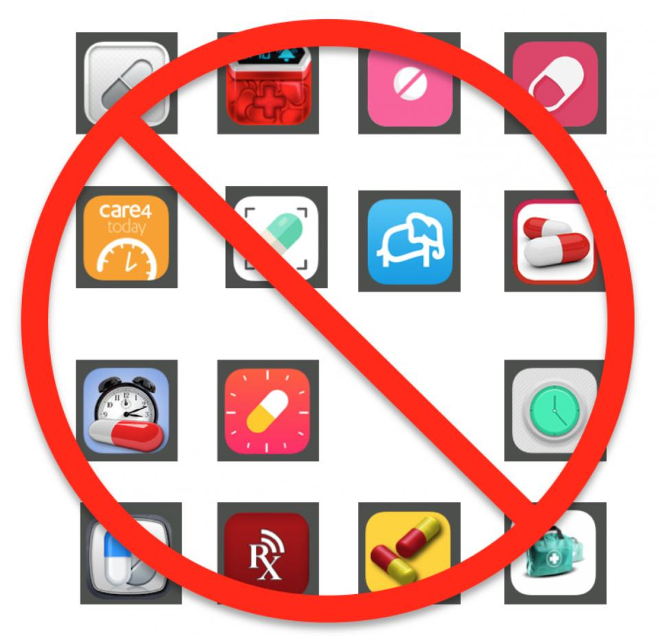 Pill Reminder Apps we eliminated