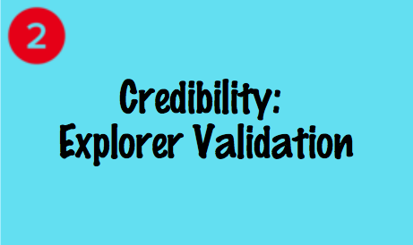 Credibility: Explorer Validation