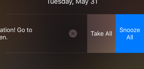 Medication Reminder with swipe