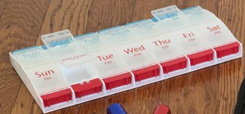 pill organizer for arthritis