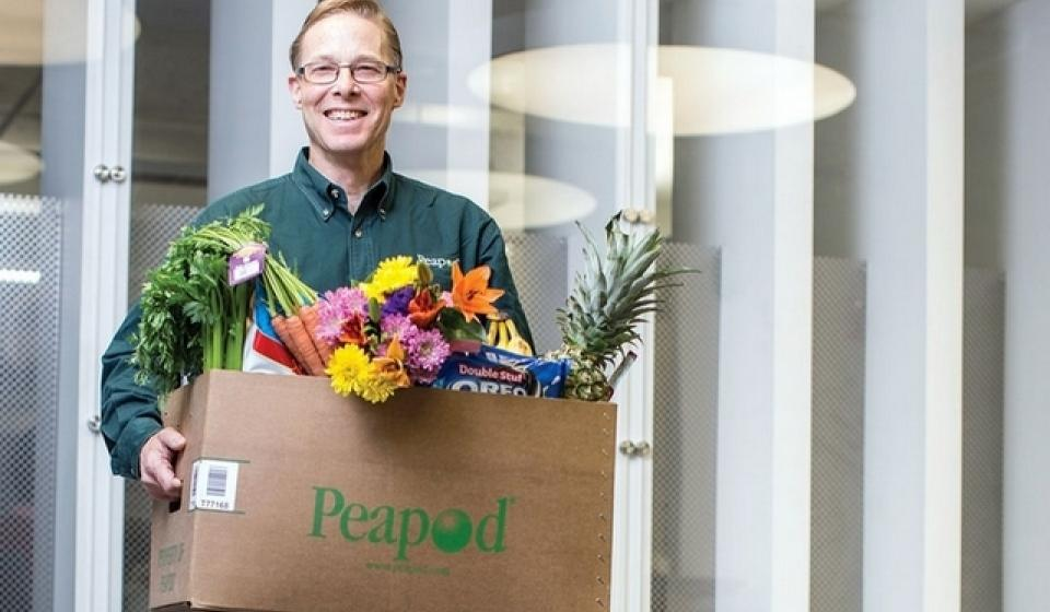Peapod, online grocery, food delivery