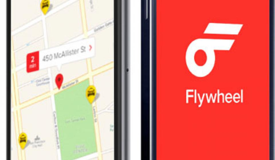 Flywheel mobile app, taxi, transport