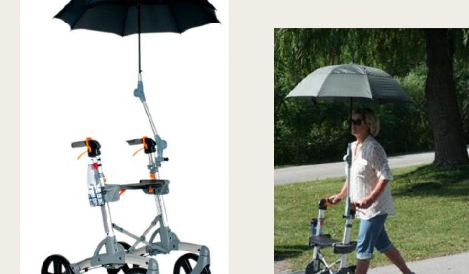 Umbrella Holder for Rollator