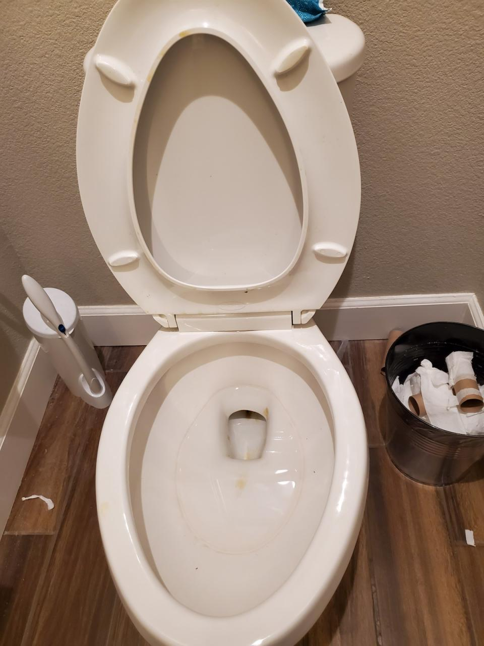 Forgets to Put Toilet Seat Down